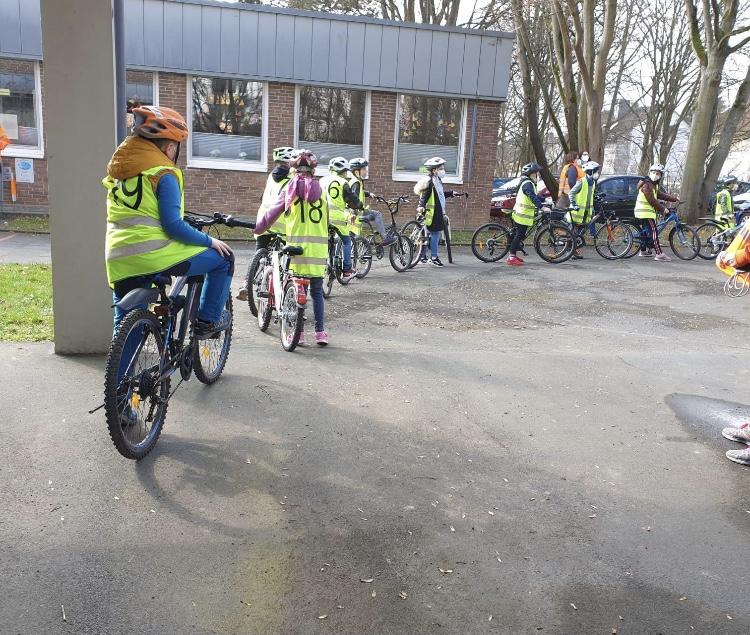 Radfahrausbildung der 4. Klassen