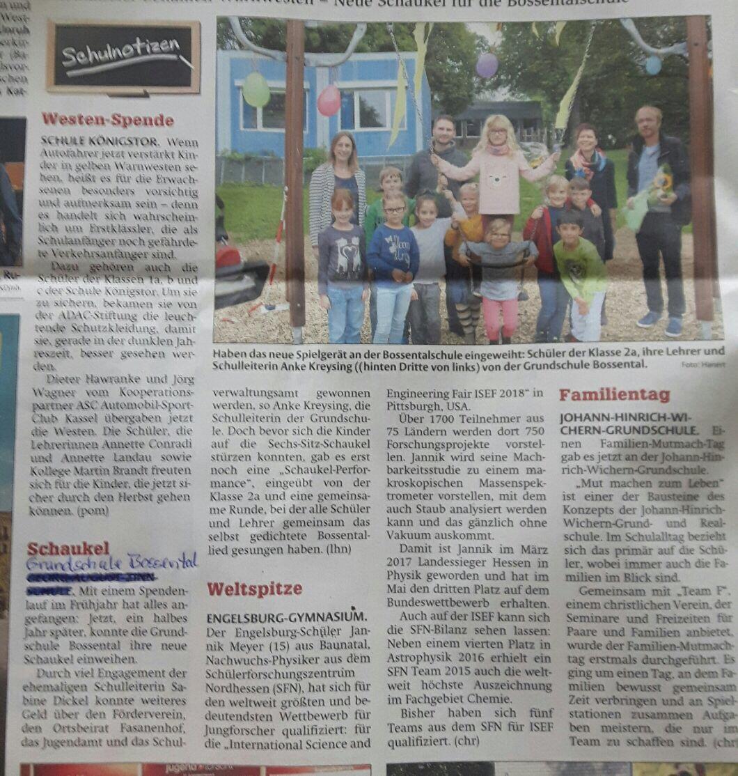 Grundschule Bossental   Lernen im Bossental